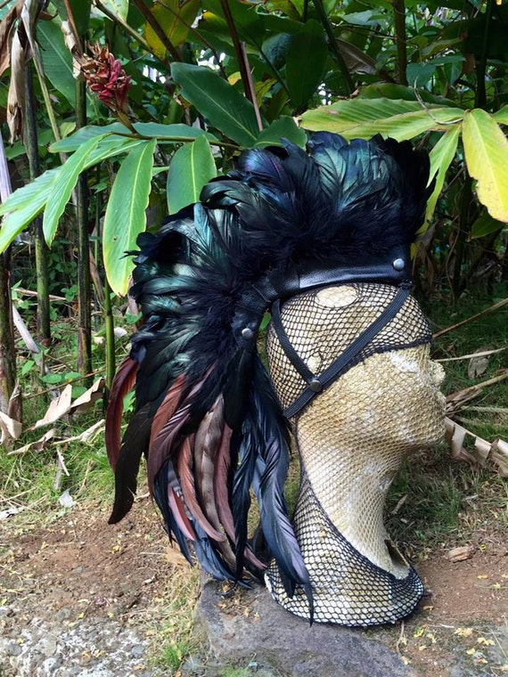 Wear with no hair  - Customizable Feather Mohawk / Headdress