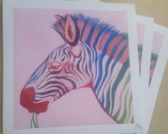 Technicolor Zebra Limited-Edition Signed Print