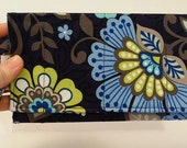 Cell Phone Wallet - iphone wristlet - blue and black - wristlet wallet