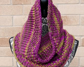 Infinity Scarf, Extra long Cowl, Hooded Cowl
