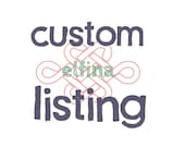 Custom listing for Jen