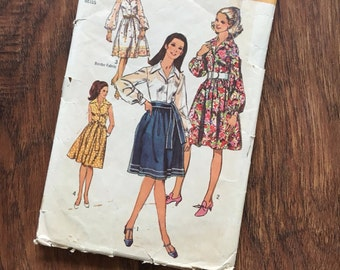 1960s  Simplicity 9152 Dress with Sash Pattern