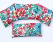 Organic lavender and flax seed relaxation set - heating pad and eye pillow set