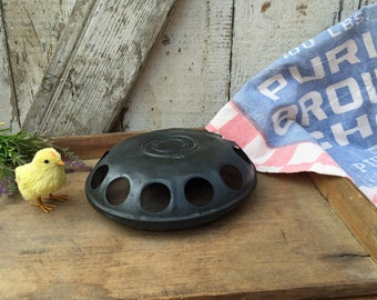Old Hoeft & Co. Galvanized Zinc Chicken Feeder - Dated 1914 - Chicago