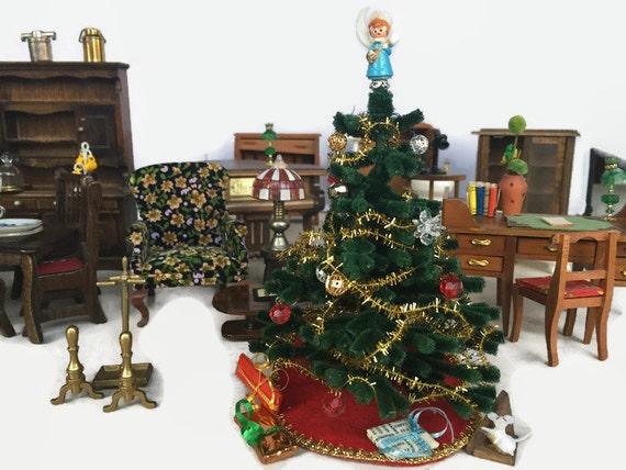 Vintage Doll House Furniture Minature Christmas Tree
