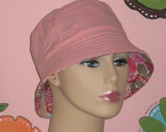 Chemo Hat Bucket Hat Cancer Hat for Hair Loss Handmade in the USA Reversible( For Size Guide, see 'Item Details' below photos) SMALL/MEDIUM