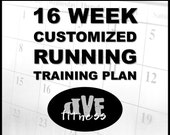 Customized 16 week running training plan - training program for races, base miles, PRs, etc