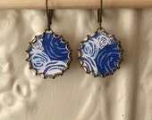 "Paper Jewelry Earrings ""Riptide"" Paper for the First One Year Anniversary"