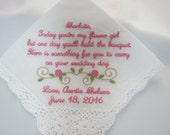 Wedding Handkerchiefs emb...
