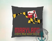 Maryland Flag Pillow | MD Colors Home Decor