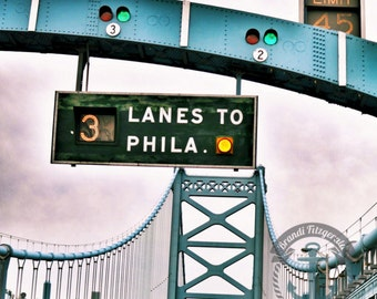 Ben Franklin Bridge Philadelphia | Philly Landmark Photography | At Checkout, Choose Lustre Print or Gallery Wrapped Canvas