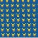 PREORDER - Reserved Listing - 1 Yard of Mini Pikachu on Navy Blue From Robert Kaufman's Poke'mon Collection