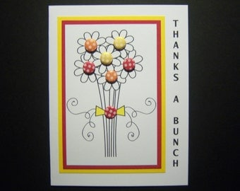 Bouquet of Daisies Thank You Card