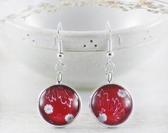 Jewelry - Red Earrings - Earrings - Art Jewelry - Earrings - Fashion Earrings - Daisy Earrings - Flower Earrings (0-30E)