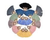 Tassel Earrings, Solid Color Earrings, Boho Earrings, Chandelier Earrings, Hippie Earrings, Statement Earrings, Fabric Earrings