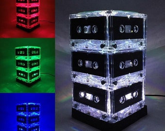 Color-changing Cassette Tape Lamp Mixtape Light