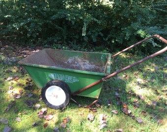 Fairy Garden Planter U2022 Vintage Wheelbarrow U2022 Load Hog Cart U2022 70s Yard Cart