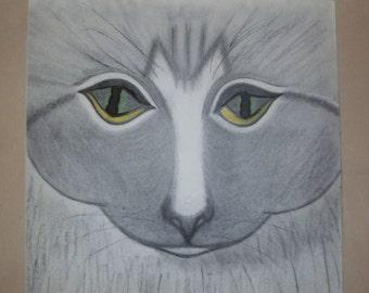 Art Deco Cat - Print of Tabby Cat
