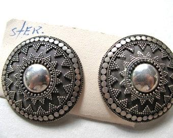 Post earrings, Sterling Silver