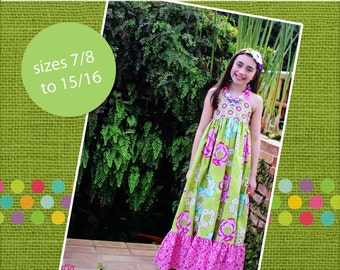 Peony's Tween Sweetheart Maxi Dress PDF Pattern sizes 7/8 to 15/16