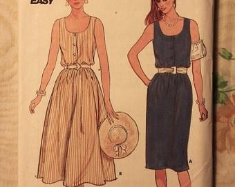 Butterick Vintage Sewing Pattern 6603 Misses 12-14-16 Dress 1980's
