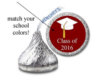 216 Hershey Kiss graduation Stickers / graduation stickers/candy stickers / Graduation Hershey Kisses stickers / 216 candy stickers