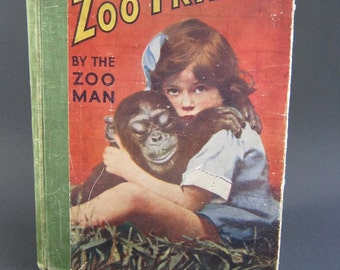 Vintage Book - Zoo Friends - David Seth Smith - London Zoo - Antiquarian - Sepia Photos - Children's Book - Collectibles