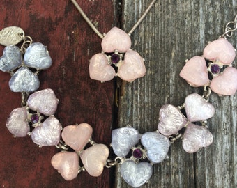 RARE Vintage Isaky Paris Lucite Necklace and Bracelet Set French Lucite