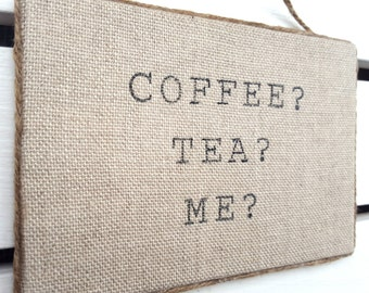 Sexy Wall Art - Coffee Tea Me Sign - Bedroom Wall Decor - Valentines Day Gift - Anniversary Gift - Gift for him - Gift for her - Sexy Gifts
