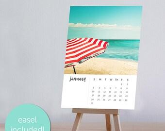 2017 calendar photography beach nautical desk calendar with easel 4x6 5x7 desk calendar fine art photography beach calendar ocean mini 2017