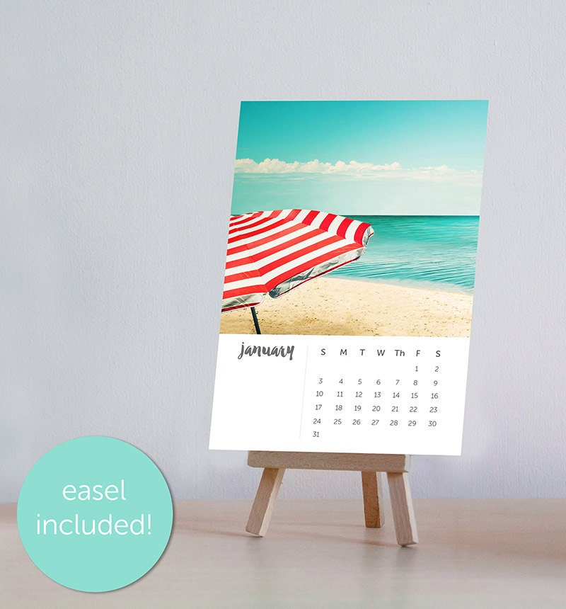 Desk Calendar Photography : Calendar photography beach nautical desk with