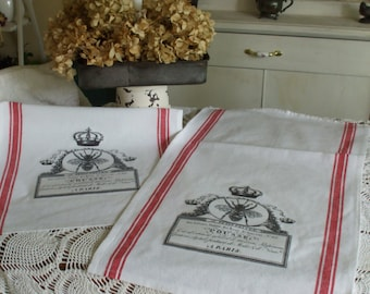 French Inspired Kitchen Towels - Set of Two