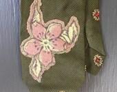 Floral Appliqué Tie