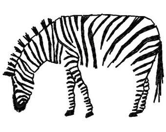 Zebra Machine Embroidery Design - Instant Download