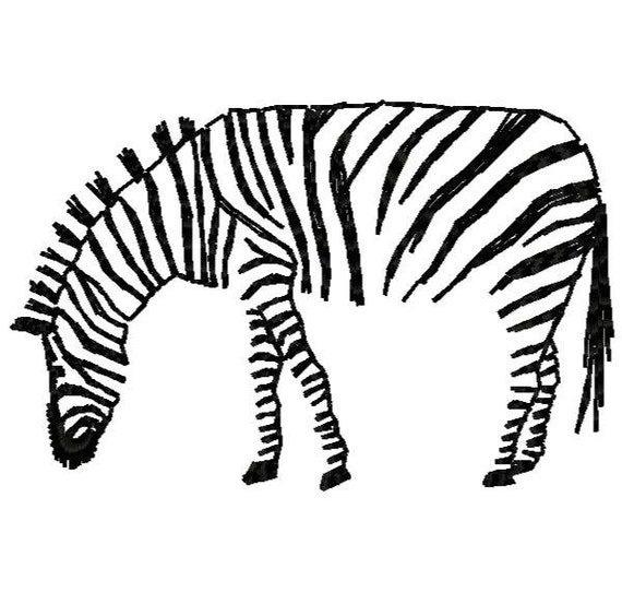 Zebra machine embroidery design instant download from