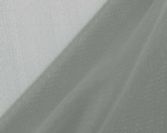 Nylon Spandex Performance Power Mesh Fabric by the Yard, Grey