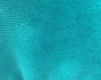 CVC Cotton Velour Fabric by the Yard (Jade)