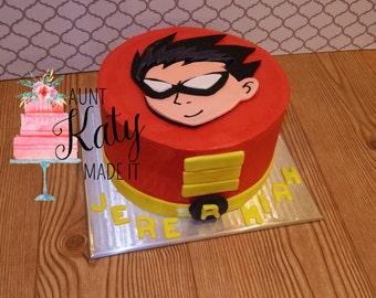 Teen Titans Robin Cake Topper