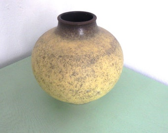 Jasba Vintage Vase - 1124 22 - UFO - West German Pottery Art Fat Lava Era