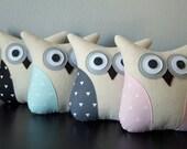 Geometric Throw Pillow - Owl Throw Pillow - Triangles - Black - Foam Green - Gray - Pink - Modern Pillow - Gift Idea Under 30