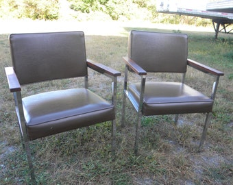 2 nice clean shape vintage matching GF goodform BUISNESS OFFICE chairs  pick up only