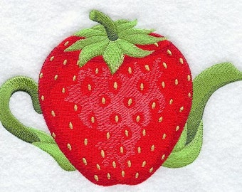 Strawberry Teapot - Fabric - Towels