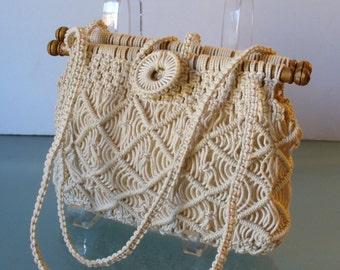 Vintage Pappagallo Macrame Bag