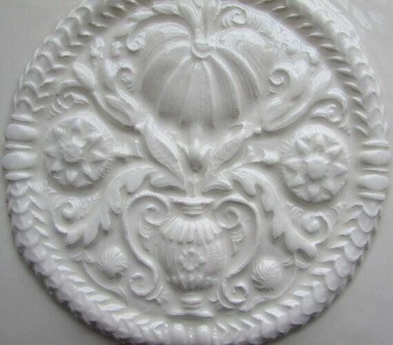 6x6 Ceramic Accent Tile Buttermold Design Tile In
