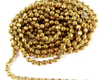 Vintage Chain, Jewelry Chain, Faceted Ball Chain, Patina Brass Chain, Antique Brass, Jewelry Making, B'sue Boutiques, 6 Feet, Item08212