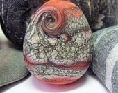 Coral Slate, Lampwork Focal Bead, SRA, UK