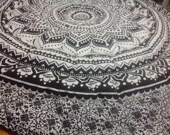 King size eiderdown black /white Mandala