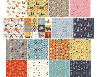 Birch Fabrics Organic  Wildland Fabric Bundles - 16 Pc