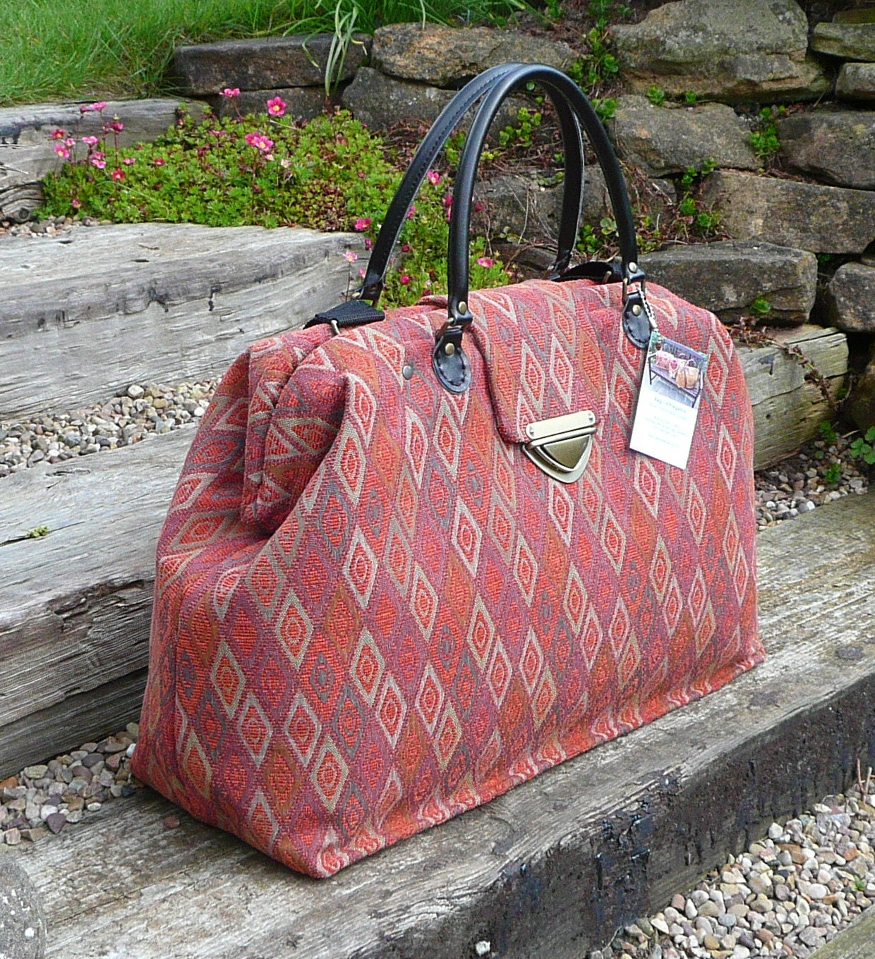 Carpet Bag Weekender Bag Overnight Bag Mary By Bagsofelegance