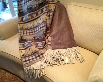 Ski Lodge, Mountain Cabin, Rustic Throw, Ducks, Deer, Man Cave, Throw Blanket, Warm Bedding, Decorator Throw